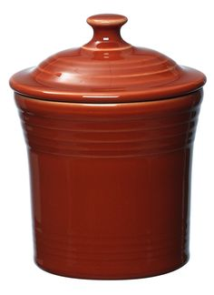 Fiesta® Dinnerware Jam Jar in Paprika. Made in the USA by the Homer Laughlin China Company   Wayfair Jam Jar, Ball Jars, Kitchen Canisters, Covered Boxes, China Porcelain, Food Storage, Dinnerware, Crystals, Glass