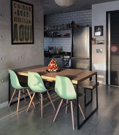 Design Kitchen Industrial Dining Tables Ideas For 2019 Home Interior Design, Dining Room Design, Interior Design, House Interior, Apartment Decor, Home, Interior, Dining Room Small, Home Decor