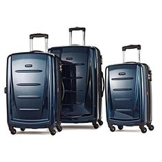 Samsonite Winfield 2 Fashion Nested Set Suitcases Deep Blue