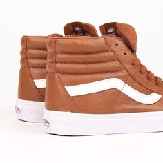 It's all in the details... super #premium leather on this #vans #sk8hi now in stock >> SUPEREIGHT.NET @vanseurope #skateshoes #fashion #nogutsnoglory #sneakers #hightops #wafflesole