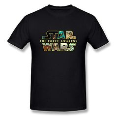 Jahei Custom Star Wars TShirts For Men Short Sleeve Black XXL -- Click image to review more details.