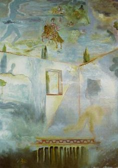 Gala In A Patio Watching The Sky, Where The Equestrian Figure Of Prince Baltasar Carlos And Several Constellations (All) Appear, After Velazquez 1981 Salvador Dali