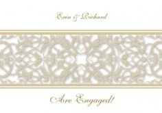 Gate to My Heart Engagement Invitation Card in Gold Fusion  - Impressive Invitations