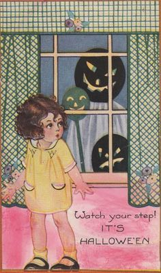 Only slightly terrifying. #vintage #Halloween #fall