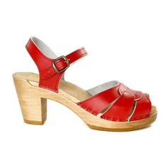 Square Accent Clog High Red, $165, now featured on Fab.