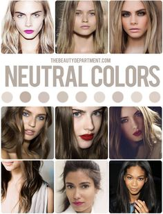 The Beauty Department: Your Daily Dose of Pretty. - HAIR COLOR GUIDE (NEUTRAL)