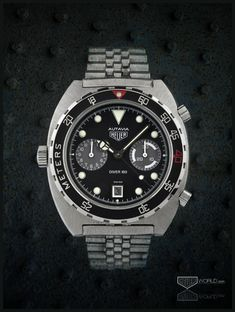 Heuer Autavia Diver 100, Reference 11063P (decompression bezel) (circa 1984)