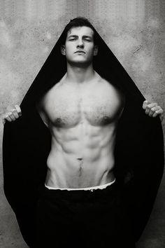 abs & black hoodie
