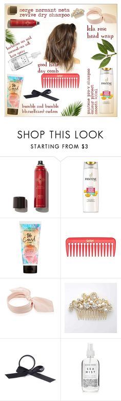 """""""Untitled #761"""" by ellma94 ❤ liked on Polyvore featuring beauty, Serge Normant, Pantene, Bumble and bumble, Lela Rose, L. Erickson, Herbivore, hair, haircare and hairspray"""