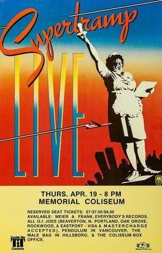 Supertramp Concert Poster                                                                                                                                                                                 More