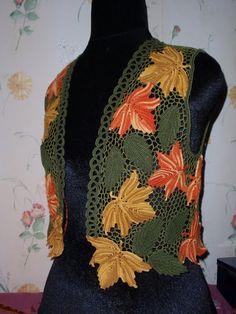 Gradient Baby Vest Making - Örgü El İşleri Crochet Shrug Pattern, Crochet Coat, Crochet Jacket, Crochet Flower Patterns, Freeform Crochet, Crochet Stitches Patterns, Crochet Motif, Crochet Designs, Crochet Clothes