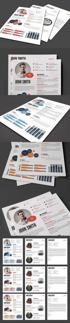 Trendy Job Resume Set Job resume, Creative and Fonts - how to set a resume