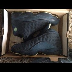 Mens Air Jordan 13 Current Series Black Yellow Green shoes