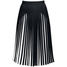 Rumour London - Penelope Black Pleated Two-Tone Midi Skirt (765 BRL) ❤ liked on Polyvore featuring skirts, mid calf skirts, knee length pleated skirt, calf length skirts, pleated midi skirts and pleated skirt