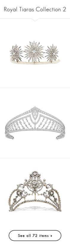 """""""Royal Tiaras Collection 2"""" by nmccullough ❤ liked on Polyvore featuring accessories, jewelry, necklaces, victorian jewelry, diamond cluster necklace, victorian necklace, victorian jewellery, hair accessories, jeweled hair accessories and art deco hair accessories"""