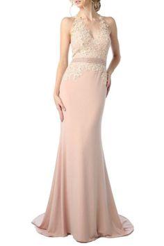 Peach Floral Evening Dress | Shop Women's Dresses.