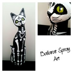 My wooden cat sculpture. Really enjoyed making this.