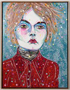 Del Kathryn Barton - to hold 4 - Roslyn Gallery Australian Painting, Australian Artists, Del Kathryn Barton, Famous Artwork, Portrait Art, Portrait Paintings, Abstract Paintings, Portraits, Whimsical Art