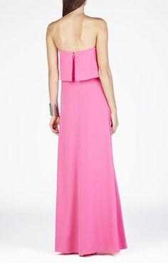 Alyse Strapless Overlay Gown | BCBG