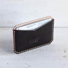 Charcoal Card Holder / Sleeve— Noise Goods