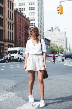 GhostBusters_Firestation-New_York-Shorts-Sneakers-Bersha-Outfit-NYFW-Fishbraid
