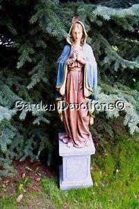 HUGE-MARY-MADONNA-Catholic-Garden-Statue-Yard-Lawn