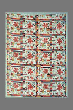 Textile piece Wiener Werkstätte Manufacturer: Wiener Werkstätte Date: ca. 1922–23 Medium: Cotton
