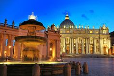 St. Peter's square Stock Image