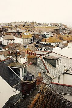 Rooftops of St Ives by Joanna Boyes