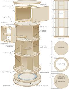 lazy susan bookshelf | Turn in order: rotating bookcase – Canadian Home Workshop