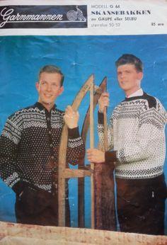 Skansebakken G 64 - Garnmannen Norwegian Knitting, Snowboarding, Knitting Patterns, Nostalgia, Wool, Jumpers, Painting, Vintage, Threading