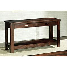 @Overstock - This versatile piece is great in just about any room in your home or office. This piece features a burgundy finish with satin nickel hardware. http://www.overstock.com/Home-Garden/Somerton-Serenity-Sofa-Table/5991832/product.html?CID=214117 Add to cart to see special price