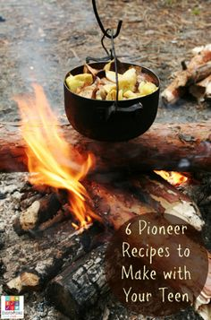 6 Pioneer Recipes to Make with Your Teen @Education Possible   Cooking methods may have changed over the years, but you can still bring history to life in the kitchen by recreating some dishes from the American frontier.   #americanhistory #middleschool