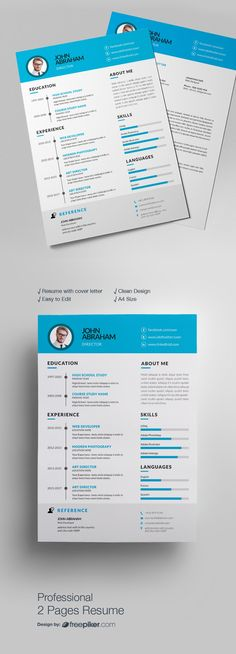 Personal Resume Design 3 Pages Design Resumes Pinterest Logo - simple resume design