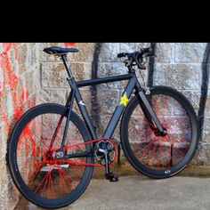 Black and Red Fixie