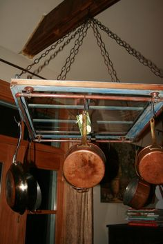 hanging pot rack by LillypadSpecialties on Etsy, $80.00