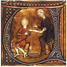 Bloodletting in medieval times was thought to release toxins/infection from the body for recovery of symptoms. Henry VIII had this procedure done many times for a leg ulcer which got more pronounced and dangerously infected as he got older. Considering they just sliced you open with a medieval tool, this couldn't have been pleasant for him.
