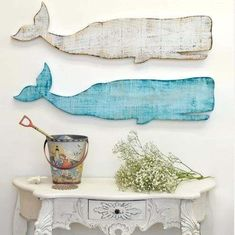 Steigerhout walvis. Zelf een #wandbord maken van #steigerhout