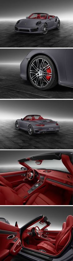 When it comes to ultimate personalisation, the sky's the limit for Porsche Exclusive. This 911 Turbo Cabriolet in Slate Grey conveys the presence of an enormous inner strength – and a highly developed sense of the essential: style.   *Combined fuel consumption in accordance with EU 6: 9.7 l/100km, CO2 emission 227 g/km