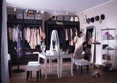 Small bedroom furniture and dressing area design ideas room ikea Ikea 2015, Ikea Stolmen, Ikea Catalogue 2015, Ikea Dressing Table, Closet Ikea, Closet Bedroom, Organiser Son Dressing, Inspiration Ikea, Ikea Usa