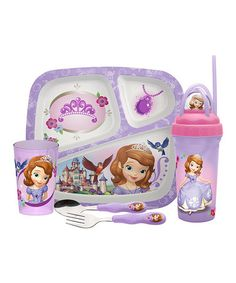 Another great find on #zulily! Sofia the First Five-Piece Mealtime Set by Sofia the First #zulilyfinds