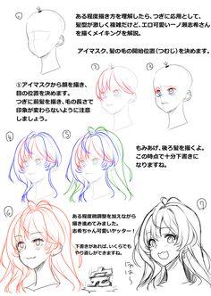 胸の描き方と表情、髪型の描き方講座 [1]
