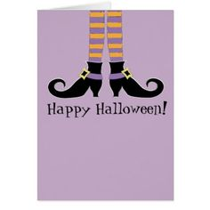 #Witches Shoes Greeting card - #Halloween #happyhalloween #festival #party #holiday