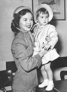 Actress Shirley Temple and daughter Linda Susan Agar.