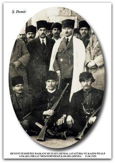 HEYETİ TEMSİLİYE BAŞKANI MUSTAFA KEMAL (ATATÜRK) VE KAZIM ÖZALP ANKARA ZİRAAT MEKTEBİNDEKİ KARARGAHINDA. 11.06.1920