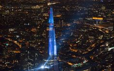 The Shard, Europe's tallest building, opens with laser light show - via Telegraph