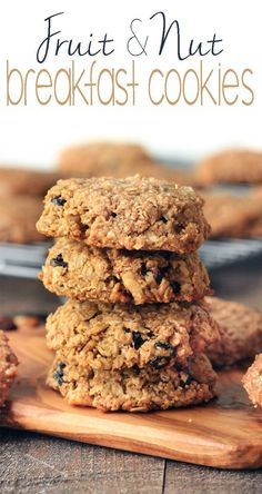 Healthy fruit and oat breakfast cookies freezer-friendly are simple to make requiring only 1 bowl and 10 ingredients Vegan gluten-free perfectly sweet and chewy and the perfect snack or on-the-go-breakfast BobsRedMill Protein Rich Breakfast, Healthy Breakfast Recipes, Brunch Recipes, Snack Recipes, Healthy Breakfast Cookies, Oatmeal Breakfast Cookies, Healthy Recipes, Healthy Breakfasts, Oatmeal Recipes