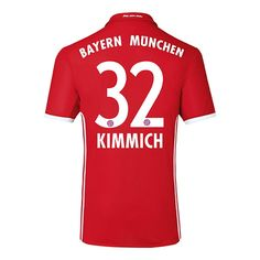 Joshua Kimmich #32 Bayern Munich 2016 Authentic Home Soccer Jersey