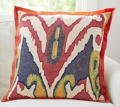Lafayette Ikat Pillow Cover | Pottery Barn