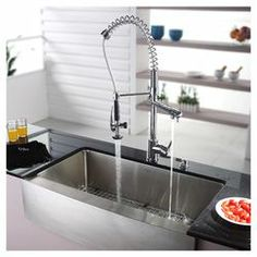 "Belle 36"" Farmhouse Kitchen Sink & Faucet Set"